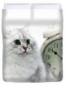 British Longhair Cat Time Goes By II Duvet Cover by Melanie Viola