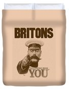 Britons Your Country Needs You  Duvet Cover by War Is Hell Store