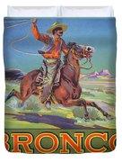 Bronco Oranges Duvet Cover by American School