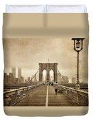 Brooklyn Memoirs Duvet Cover by Joann Vitali