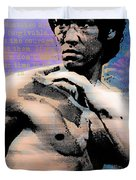 Bruce Lee And Quotes Duvet Cover by Tony Rubino