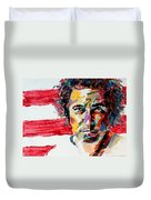 Bruce Springsteen Duvet Cover by Derek Russell