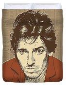 Bruce Springsteen Pop Art Duvet Cover by Jim Zahniser