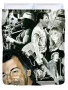 Bruce Springsteen Through The Years Duvet Cover by Ken Branch