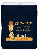 Bruce Sutter St Louis Cardinals Duvet Cover by Jay Perkins