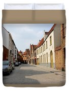 Bruges Side Street Duvet Cover by Carol Groenen