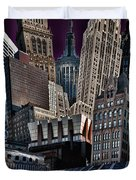 Bryant Park Collage Duvet Cover by Chris Lord