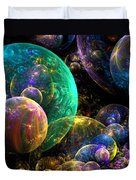 Bubbles Upon Bubbles Duvet Cover by Peggi Wolfe