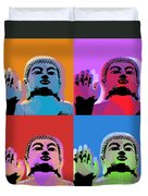 Buddha Pop Art - 4 Panels Duvet Cover by Jean luc Comperat