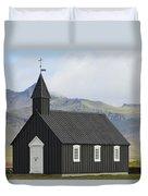 Budir Church Stadarsveit, Snaefellsnes Duvet Cover by Michael Thornton