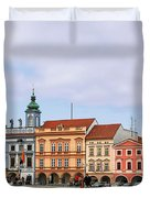 Budweis - Namesti Premysla Otakara II Duvet Cover by Christine Till