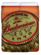 Budweiser Cap Duvet Cover by Tony Rubino
