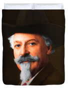 Buffalo Bill Cody 20130516 square Duvet Cover by Wingsdomain Art and Photography