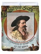 Buffalo Bills Wild West Duvet Cover by unknown