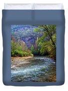 Buffalo River Downstream Duvet Cover by Marty Koch