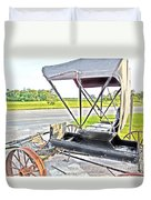 Buggy By The Road Duvet Cover by Eloise Schneider