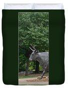 Bull Market Quadriptych 1 Of 4 Duvet Cover by Christine Till