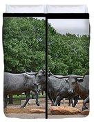 Bull Market Quadriptych Duvet Cover by Christine Till