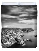 Bullers of Buchan Cliffs Duvet Cover by Dave Bowman