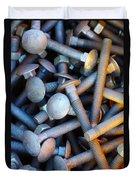Bunch Of Screws Duvet Cover by Carlos Caetano