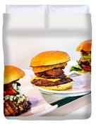 Burger Time Duvet Cover by Kelley King