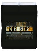 Bus Stop Duvet Cover by Jeff Burton