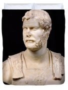 Bust of Emperor Hadrian Duvet Cover by Anonymous
