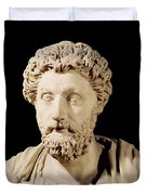 Bust Of Marcus Aurelius Duvet Cover by Anonymous