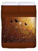 Butterflies Landscape Duvet Cover by Carmen Guedez