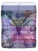 Butterfly Art - Ab25a Duvet Cover by Variance Collections