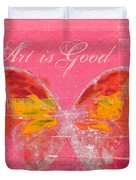 Butterfly Art - P11aig13a_ Art Is Good Duvet Cover by Variance Collections