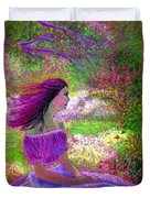 Butterfly Breezes Duvet Cover by Jane Small