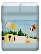 Butterfly Fish Duvet Cover by Savanna Paine
