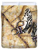 Butterfly Mosaic 01 Elena Yakubovich Duvet Cover by Elena Yakubovich