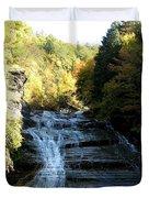 Buttermilk Falls Ithaca New York Duvet Cover by Rose Santuci-Sofranko
