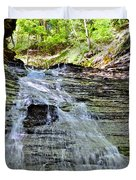 Butternut Falls Duvet Cover by Frozen in Time Fine Art Photography