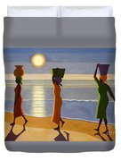 By The Beach Duvet Cover by Tilly Willis