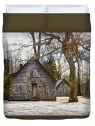 Cabin Dream Duvet Cover by Debra and Dave Vanderlaan