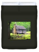 Cabin In The Smokies Duvet Cover by Marty Koch