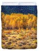 Cache La Poudre River Colors Duvet Cover by Jon Burch Photography