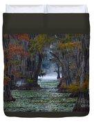 Caddo Lake Morning Duvet Cover by Snow White