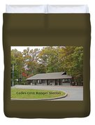 Cades Cove Ranger Station Duvet Cover by Marian Bell