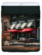 Cafe - Albany Ny - Mc Geary's Pub Duvet Cover by Mike Savad