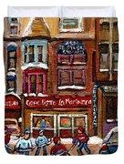 CAFE BISTRO LA MARINARA Duvet Cover by CAROLE SPANDAU