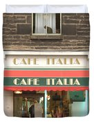 Cafe Italia Duvet Cover by Mike McGlothlen