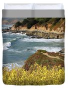 California Coast Overlook Duvet Cover by Carol Groenen