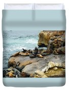 California Dreaming Duvet Cover by Mary Machare
