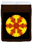 California Poppy Flower Mandala Duvet Cover by David J Bookbinder