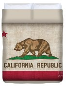 California State Flag Duvet Cover by Pixel Chimp