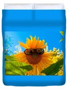 California Sunflower Duvet Cover by Bill Gallagher